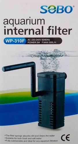 Filtro Interno Para Acuario Pecera Sobo Wp-310f 300l/h