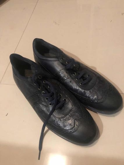 Sneakers Zapatos Franco Cuadra De Piel De Avestruz No Gucci