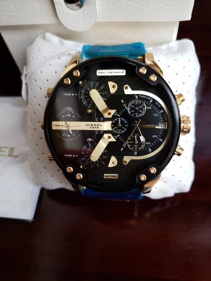Reloj Diesel 2.0 Mr.daddy Dz7333 Gold Nuevo 100% Genuino