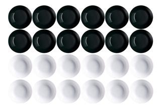 Plato X12 Hondo Luminarc Diwali 20cm Vidrio Extra Resistente
