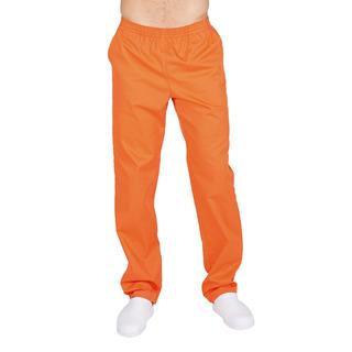 Pantalon Para Chef Unisex Naranja Con Resorte Bolsillos T. M