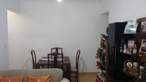 Apartamento Com 2 Dormitórios À Venda, 75 M² Por R$ 325.000,00 - Campo Grande - Santos/sp - Ap4715
