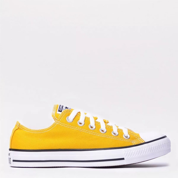 Tênis Converse All Star Ct As Core Ox Amarelo/ Bordo E Pret