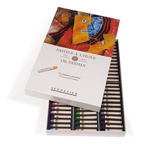 Sennelier Pinturas Pastel Al Oleo  Caja De Carton Set 48 Coc