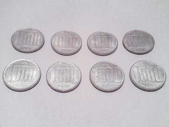 Lote 8 Monedas 1000 Australes Argentina (1990 A 1991)