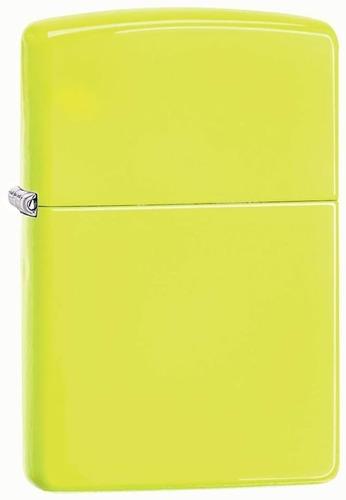 ¡ Encendedor Zippo Colors Matte Neón Yellow Amllo Limón !!