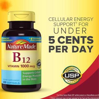 Vitamina B12 Nature 1000 Mcg C/400 Soft Gels Original Lacrad