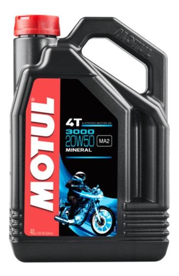 Aceite Para Moto Motul 3000 Mineral 20w50 4 Litros Motocity