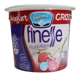 Yogurt Griego Finesse Frutos Rojos X 150gr