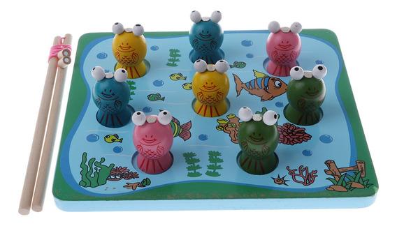 11 Peças De Pesca Magnética Jogo De Pesca Sapo Set Toy Cri