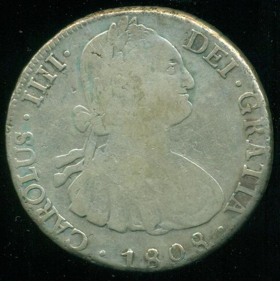 Potosí Bolivia España Moneda Plata 8 Reales 1808 Pj Carolus
