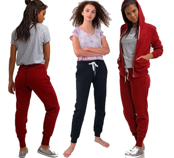 Pantalon Mujer Jogging Chupin Algodon Joggers Casual A16