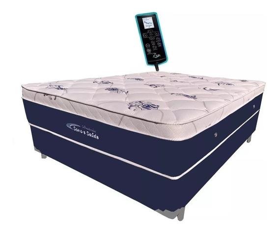 Colchão Magnético Queen Biomassageador Cromo + Pillow Visco