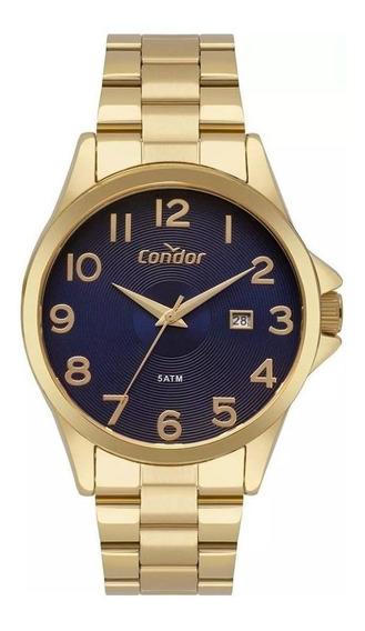 Relogio Dourado Masculino Condor Co2115ktt/4a