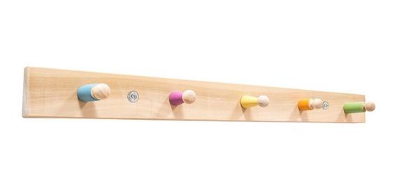 Moderna Repisa Perchero Montessori Infantil 1 Pieza Madera