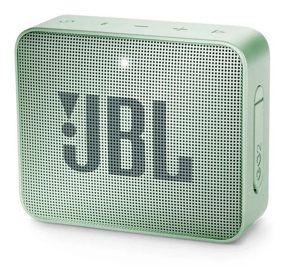 Caixa De Som Jbl Go2 Mint Portátil 3w Bluetooth - Original
