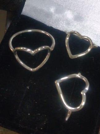 Anel De Coração Em Prata 950