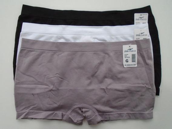Cueca Boxer Feminina Sem Costura Zee Rucci Kit Com 06