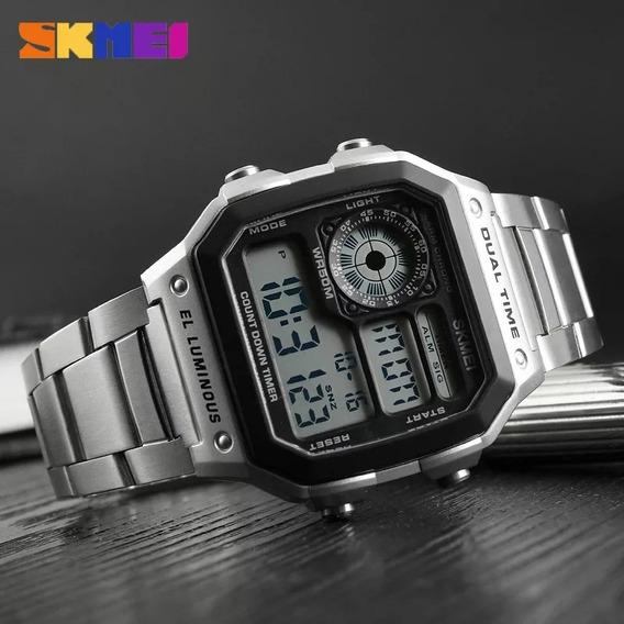 Relógio Vintage Classico Skmei Prata Original