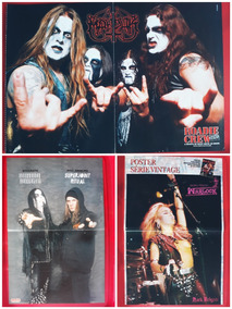 10 Posters / Mini Posters / Heavy Metal / Rock - Lote