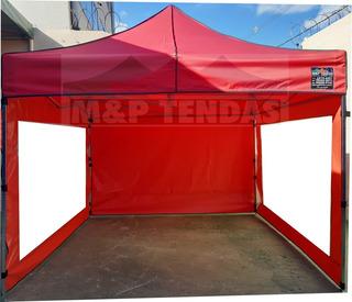 Tenda 3x3 Sanfonada 2 Transparente E 1 Fechado