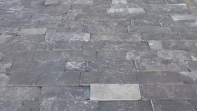 Lote De 1m2 Piedra Laja Negra Grafito Cortes De 5cm X Largo