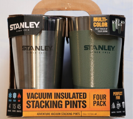 Set Stanley 4 Vasos De 473 Ml De Distintos Colores.
