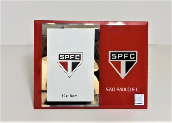 Porta Retrato De Vidro - 10x15cm - São Paulo - Licenciado