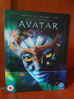 Steelbook Avatar Bluray 3d + 2d + Dvd James Cameron Dañado