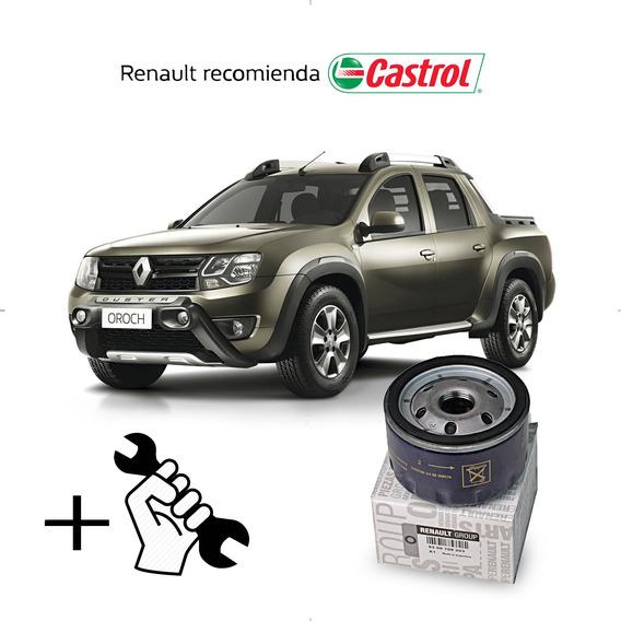 Cambio Filtro + Aceite Castrol 10w40 Renault Oroch 1.6 16v