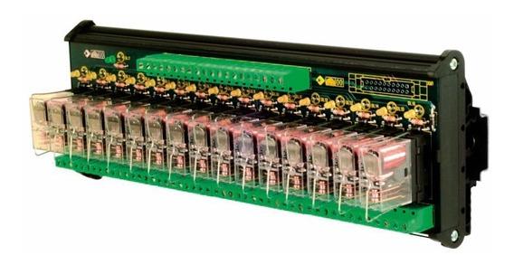 Módulo De Rele 16 Canais Automação Cabur Xr161e24