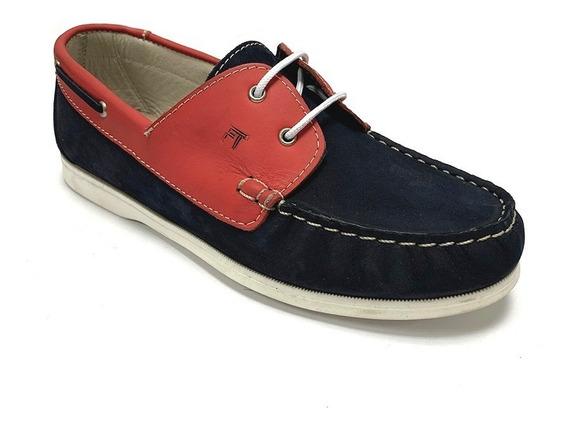 Zapatos Nauticos Full Time Niño Azul Ft 9315 Corpez 39