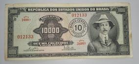 Brasil Billete De 10000 Cruzeiros Resellado 10 Nuevos *042