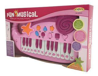 Organo Rosa 24 Teclas Con Luz
