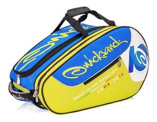Raqueteira Para Beach Tennis Quicksand Compettion Azul E Ama