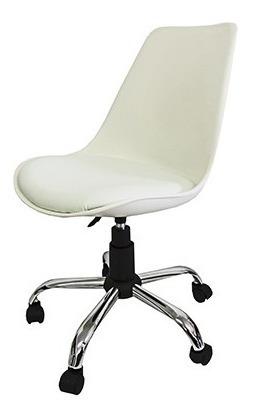 Cadeira Em Abs Branca Pelegrin Com Design Eames Dkr Office