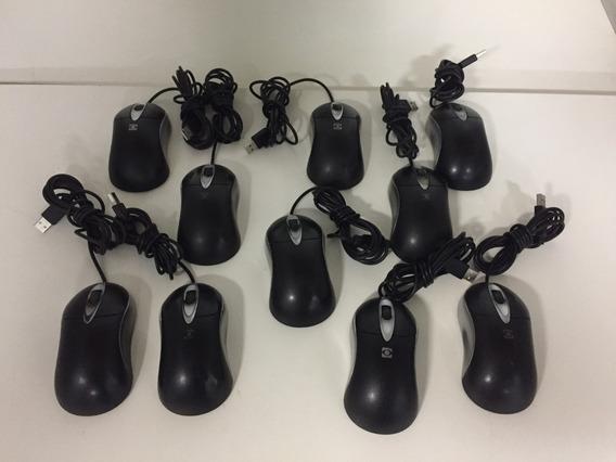 Kit 10 Mouses Opticos Usb Itautec Modelo B55usbp-it-usado