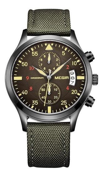 Relógio Masculino Megir 2021 Cronográfo Original