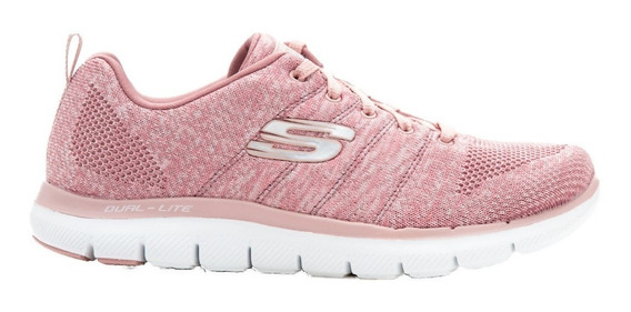 Skechers Zapatillas Mujer Flex Appeal 2.0 High Energy Rosa
