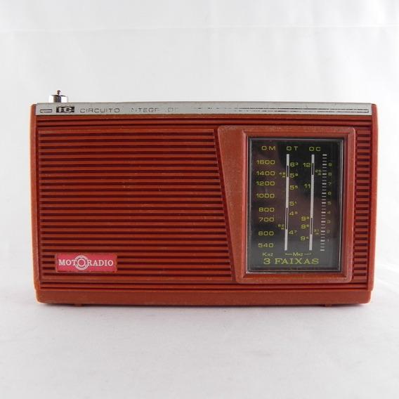 Rádio Antigo Motoradio 3 Faixas Vintage - Usado C/ Defeito