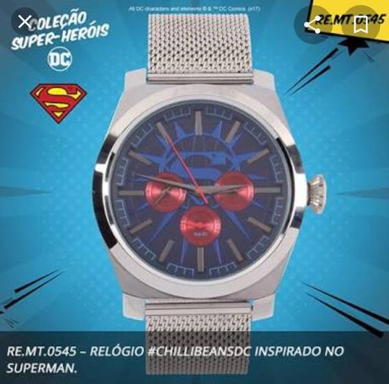 Relógio Chilli Beans Superman - Edição Limitada Dc Comic
