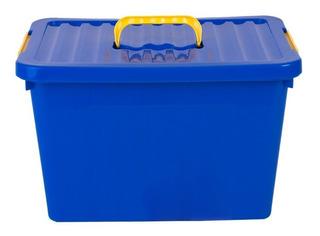 Caja Organizadora Apilable X6 Plastico Grande 24 Lt