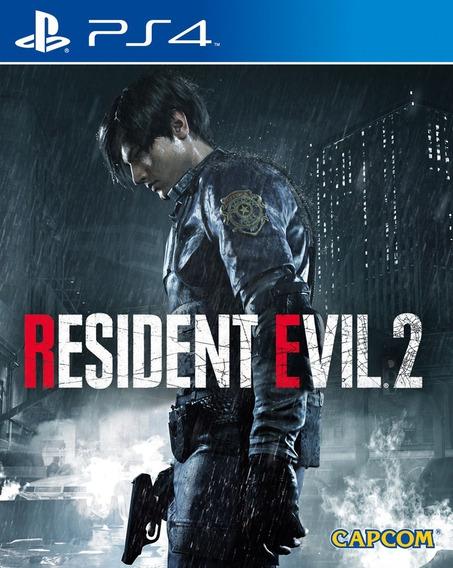 Resident Evil 2 Remake - Ps4 Code 2 Portugues Leg Envio Já