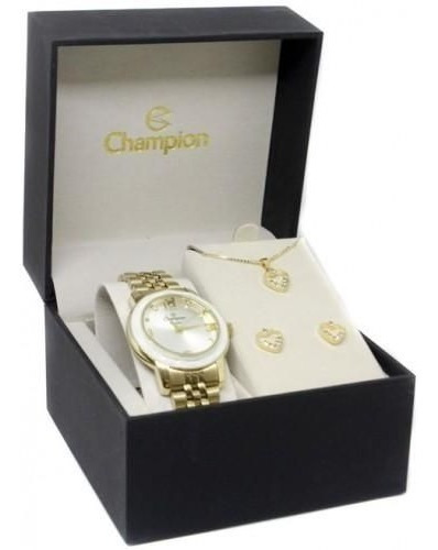 Relógio Feminino Champion Cn25332w - Dourado/branco