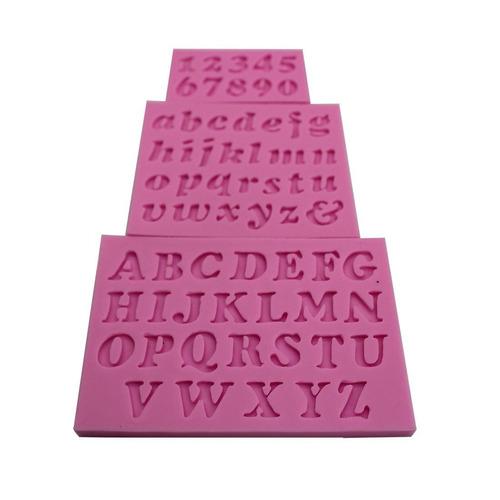 Molde Para Fondant Y Pasta De Goma Modelo Letras Alfabeto