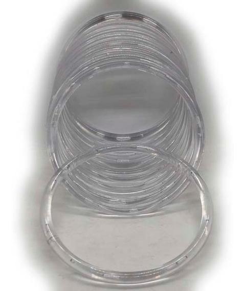 Argollas Acrílicas 10cm. Transparente X 36 Unidades.