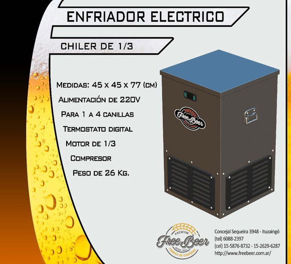 Chopera/chiller Eléctrico + Torre + Tubo + Regul. 4 Cani U$