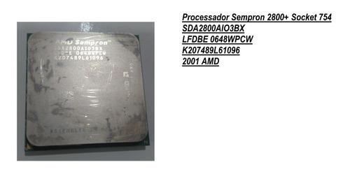 PROCESSOR 1.6GHz SOCKET 754 SDA2800AIO3BX AMD SEMPRON 2800