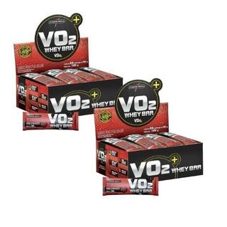 Kit 2x Vo2 Whey Protein Bar 24un Integralmédica - Promoção