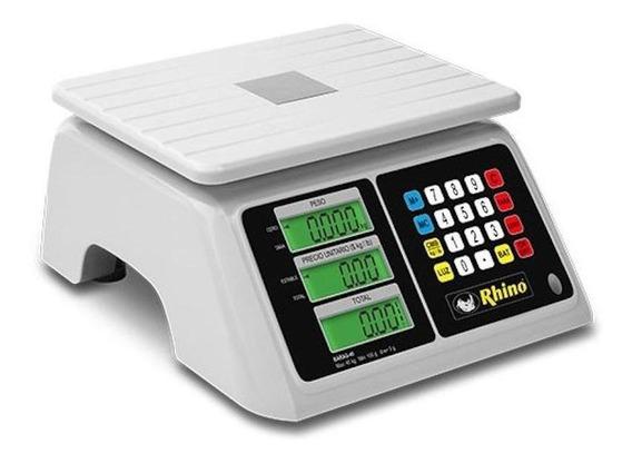 Báscula comercial digital Rhino BARAG 40 kg 110V/220V blanco